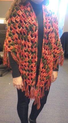 Chal o punta a Crochet