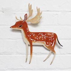 Image of FALLOW DEER - Wall Art  by Abigail Brown
