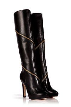 Diane Von Furstenberg - Leather Cambria Boots