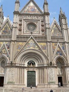 The Cathedral in Orvieto, Italy.  Prettiest exterior of any of the churches we visited.