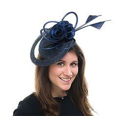Chapeau Bibi Lola bleu marine JANE ANNE DESIGNS de chez chapeauxetcasquettes.fr.