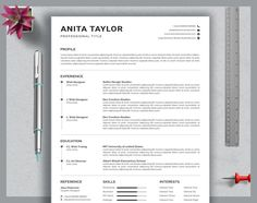 Resume template instant download resume template wordresume | Etsy