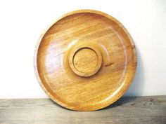 Mid Century Wood Tray   Vintage Wood Tray  Dip by ZenDenVintage, $22.00