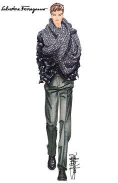 Si quieres conocer de moda y tendencias para hombres, si te gusta la marca Ferragamo y te gustaría conocer el tema que inspira su próxima colección invernal