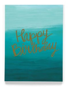 CARDS :: Greeting Cards :: Foil accented cards :: Happy Birthday teal Single Card - Ecojot - eco savvy paper products