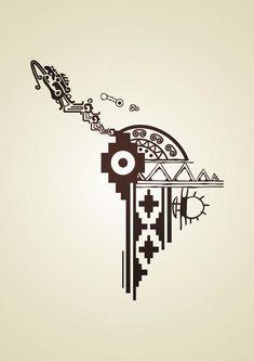 LatinoAmerica by gusustavo Mayan Tattoos, Mexican Art Tattoos, Indian Tattoos, Inka Tattoo, Peru Tattoo, Latina Tattoo, Art Chicano, Arte Latina, Colombian Art