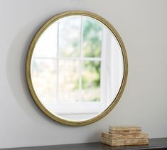 """$359, 33""""DIAMETER (website is wrong!- says 32 and 34"""")  and 26lbs. Jensen Wall Mirror - Round 