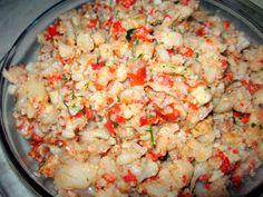 Potato Salad, Cauliflower, Shrimp, Grains, Potatoes, Vegetables, Ethnic Recipes, Salads, Cauliflowers