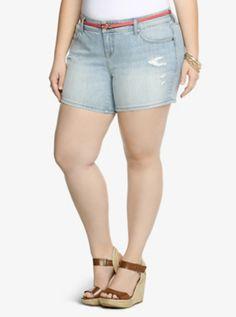 Torrid Short Shorts - Light Wash with Destruction