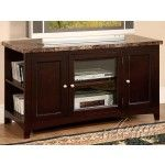Acme Furniture - Finely Faux Marble Top TV Stand in Espresso - 91002   SPECIAL PRICE: $443.38