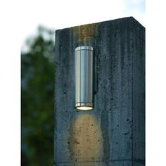 Eglo, Riga Wall-Mount 2-Light Outdoor Stainless-Steel Cylinder Light Fixture, 200025A at The Home Depot - Tablet