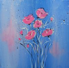 Pink Painting by Florentina Maria Popescu
