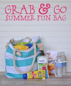 Grab & Go Summer Fun Bag – Die Happy Scraps - Christmas Deesserts Summer Is Here, Summer Fun, Summer Time, Summer Crafts, Fun Crafts, Go Bags, I Love Makeup, Summer Bags, Summer Essentials