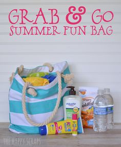 Grab and Go Summer Fun Bag - The Happy Scraps