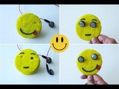 How To Make Emoji Earbuds Holder/Cord Keeper - YouTube