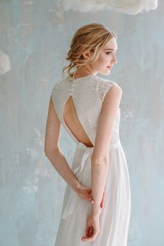 Elegant wedding dress highlights the natural beauty of a bride. Its simple design allows you to feel yourself both fabulous & comfortable the whole wedding day long!