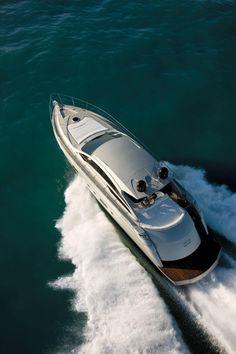 External view Pershing Yacht - Pershing 58' #yacht #luxury #ferretti #pershing