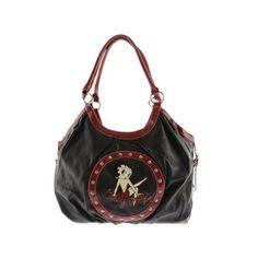 Women's Betty Boop Signature Product Betty Boop™ Bag BP1011 Black ($32) ❤ liked on Polyvore featuring bags, handbags, black, top handle purse, rhinestone bag, top handle handbags, rhinestone handbags and rhinestone purses