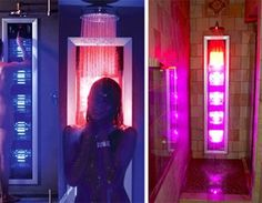 shower with built in tanning bed. give meeee
