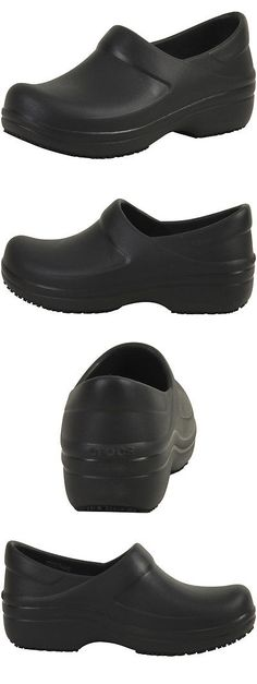 Occupational 53548: Crocs At Work Women S Neria Black Slip Resistant Pro Clogs Shoes -> BUY IT NOW ONLY: $54.99 on eBay!