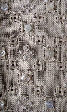 Embellished Huck Lace by aliceknitting, via Flickr