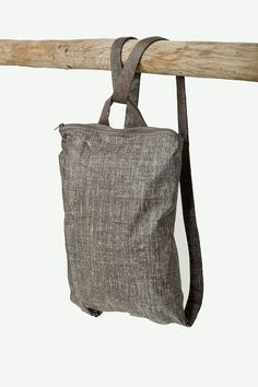 Tote backpack - handmade- Tote backpack – Handarbeit Just beautiful. Maybe a colored zipper … and a print? My Bags, Purses And Bags, Coin Purses, Colorful Backpacks, Tote Backpack, Simple Bags, Denim Bag, Fabric Bags, Handmade Bags