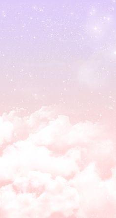 Candy floss clouds iPhone wallpaper