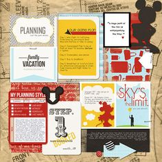 """Disney Digital Project Life page by amberR created with """"Project Mouse"""" products by Sahlin Studio & Britt-ish Designs"""