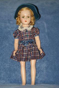 17.5 Vintage Arranbee Debuteen Composition Cloth Body Green Eyes