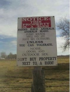 People who want to be live in the country, but don't like what that entails. Such dorks.