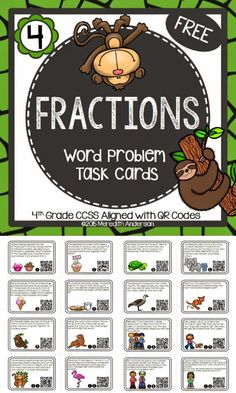 https://www.teacherspayteachers.com/Product/Fractions-Word-Problem-Task-Cards-FREEBIE-1786855
