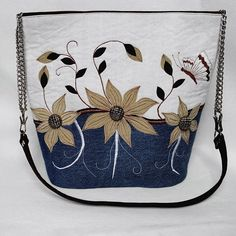 Romantic denim handbag  Františka