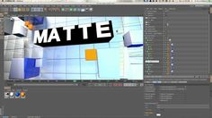 Cinema 4D Quick Tip 05: Using The Matte Object When Forgetting to Render an Object Buffer on Vimeo