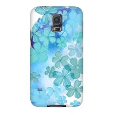 Pastel watercolor flowers,Samsung S3,S4,S5 case, iphone4, 5, 6 case,ipad hard case,girly case, cute case, blue,aqua by VintageChicImages on Etsy #phonecase #samsung #iphonecase #flowers #blue #aqua