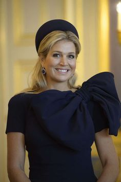 Reina Máxima de Holanda con PillBox negro en ceremonia oficial Photo (Foto: Photonews via Getty Images)