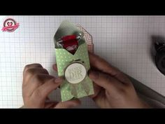 Stampin' Up! ADVENT COUNTDOWN 11 Envelope Punch Board Candy Cane Box - YouTube
