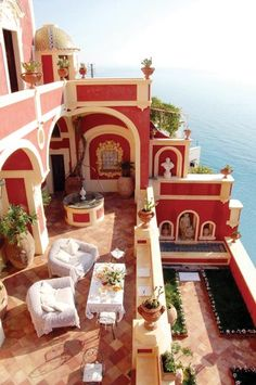 Red Balcony on the sea