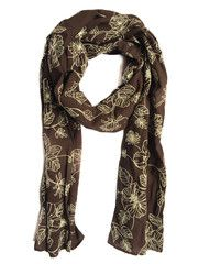 Vegan 100% cotton Leafs in Fall Scarf. Made in Europe. Ships worldwide. www.artisara.com