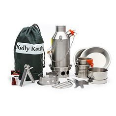 Kelly Kettle Ultimate Stainless Steel Small Trekker Camp Stove Kit Boil Water Cook Fast Survive ** Learn more by visiting the image link. This is an Amazon Affiliate links.