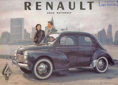 catalogue literature brochure RENAULT 4 CV 1954