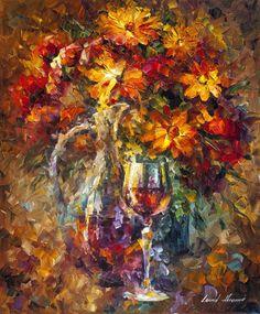 """Wine Feelings"" by Leonid Afremov"