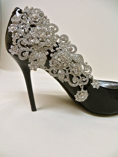 Bridal Shoe Clips-Crystal Rhinestone .