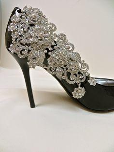 Bridal Shoe Clips-Crystal Rhinestone .