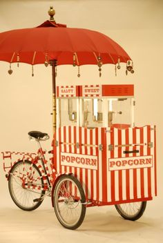 R & W Popcorn Tricycle | Salt & Sweet | London| Ideas Box