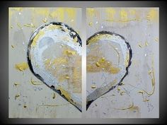 Textured Heart Paintings Part1 for your inspiration 3D Structure Art Acr...