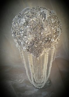 CRYSTAL BROOCH BOUQUET Custom Crystal by Elegantweddingdecor