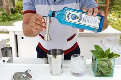 Poolside cocktails made with Martin, Bartender from Thompson Miami Beach. #Summer #Cocktails