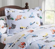Just purchased this for Jack's new construction site bedroom. He's SO excited.