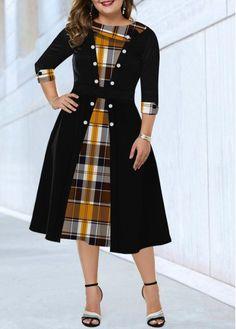 Cheap plus size dresses Plus size dresses online for sale Latest African Fashion Dresses, Women's Fashion Dresses, Casual Dresses, Trendy Dresses, Early Fall Fashion, Chiffon Cardigan, Chiffon Dress, Necklines For Dresses, Classy Dress