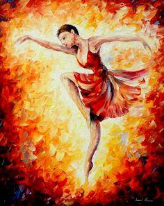 Flaming Dance - Leonid afremov